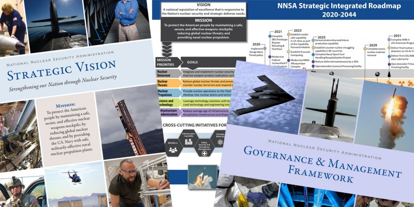 NNSA Strategic Vision covers