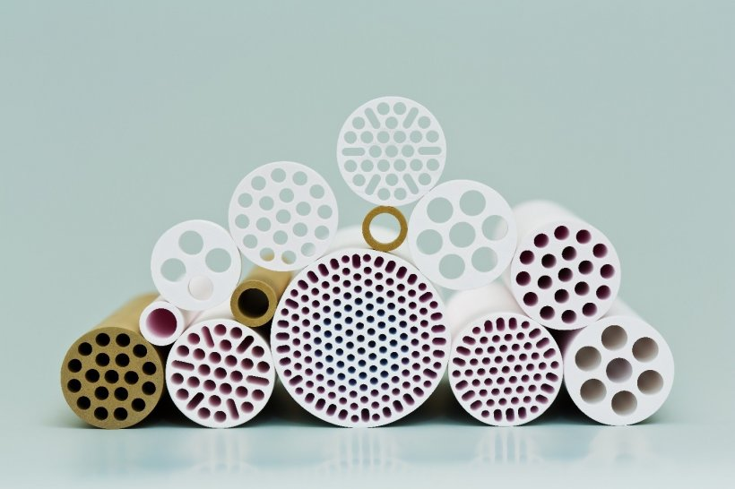 Ceramic membranes made in various geometries.