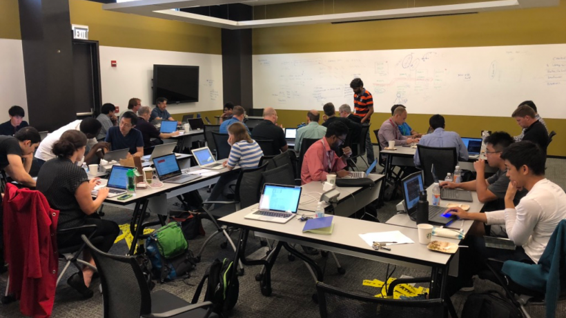 Researchers explore scalable deep learning at a CANDLE workshop.   Photo by Argonne National Laboratory