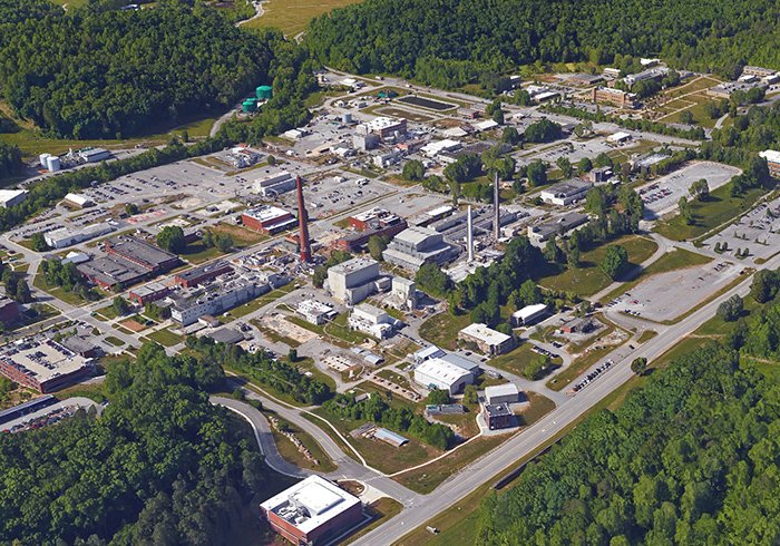 A view of the Oak Ridge National Laboratory central campus, where EM is scheduled to conduct cleanup in the years ahead.