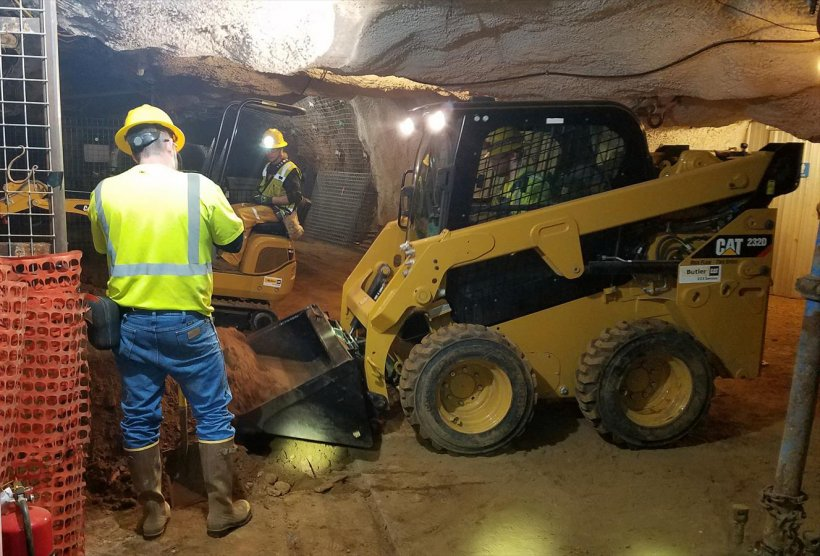 Pre-excavation work for DUNE begins at the Sanford Underground Research Facility in South Dakota.
