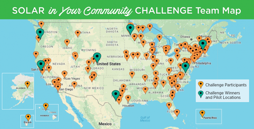 Solar in your community winners map