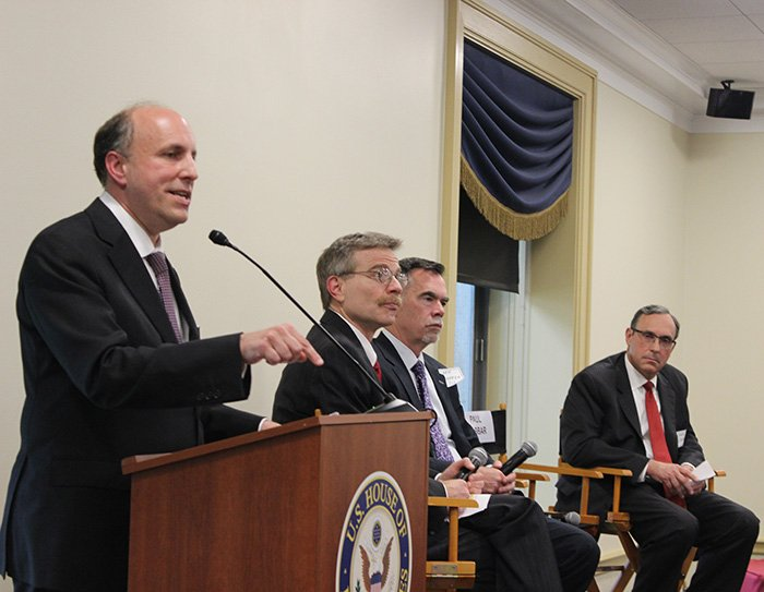 DOE Under Secretary for Science Paul Dabbar addresses the audience during last week's panel discussion for the House Nuclear Cleanup Caucus.