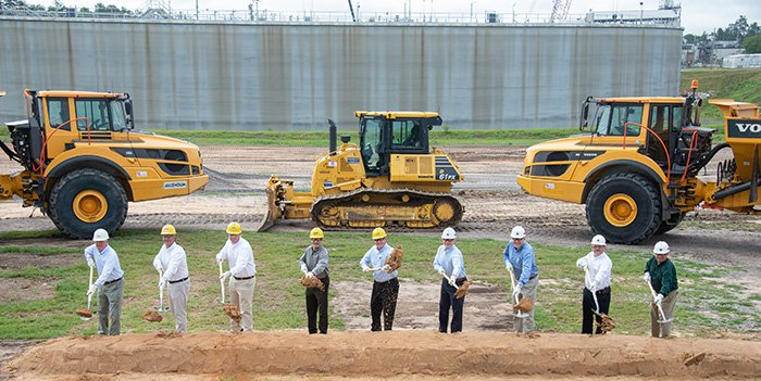 Federal and contractor employees at the Savannah River Site attend the groundbreaking ceremony for Saltstone Disposal Units 8 and 9 on June 10.