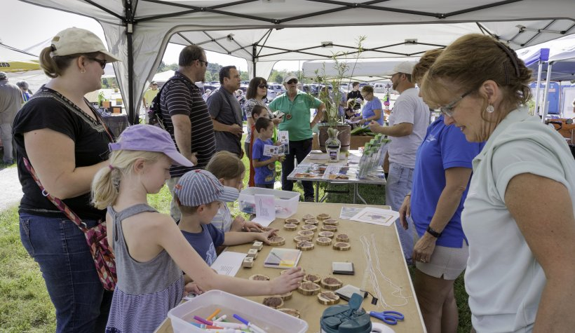 Missourians for Monarchs released tagged butterflies with help from visiting children during the third annual Monarch Madness event at the Weldon Spring, Missouri, Site.