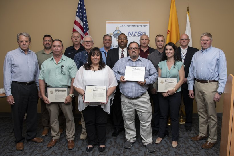 Counter Unmanned Aircraft System group receives their NNSA Security Team or Group Award.