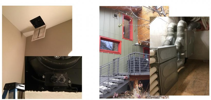 Collage of indoor air quality systems.