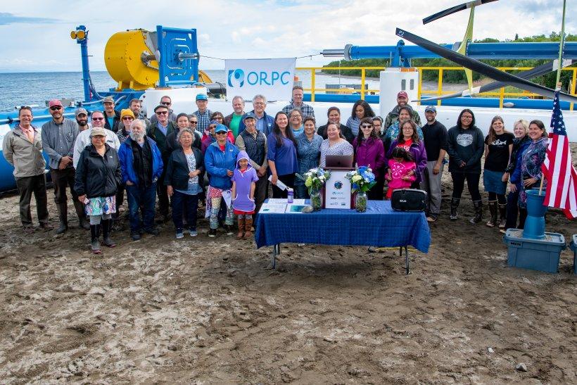 Igiugig, Alaska, community members gather for the RivGen® Power System Celebration.