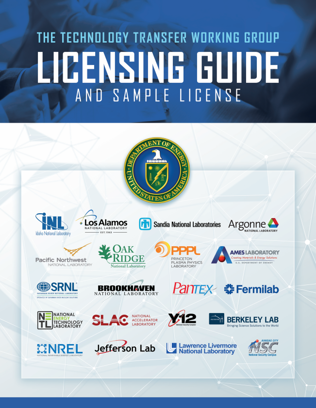 Technology Transfer Working Group Licensing Guide and Sample License
