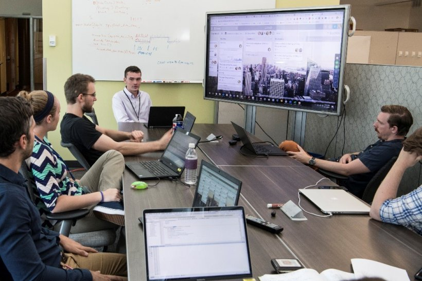 JUMP into STEM interns and mentors attend a weekly meeting with the Commercial Buildings Research Group at NREL.