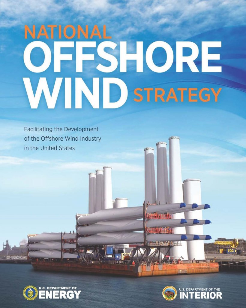 Cover of the national offshore wind strategy.