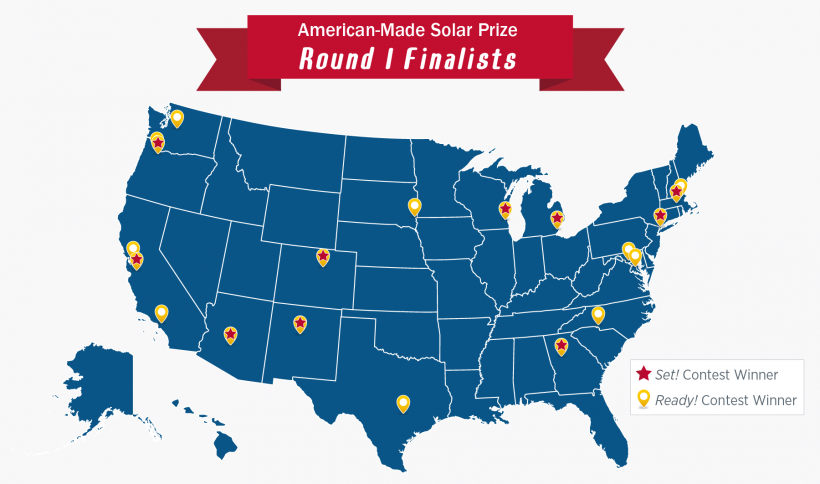Solar Prize Round 1 Finalists Map
