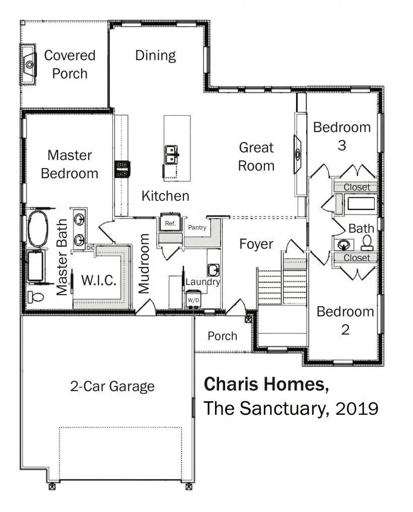 Floorplans: The Sanctuary by Charis Homes.