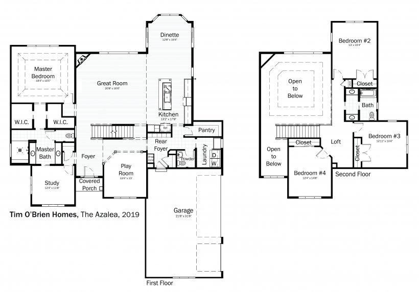 Floorplans: Azalea by Tim O'Brien Homes.