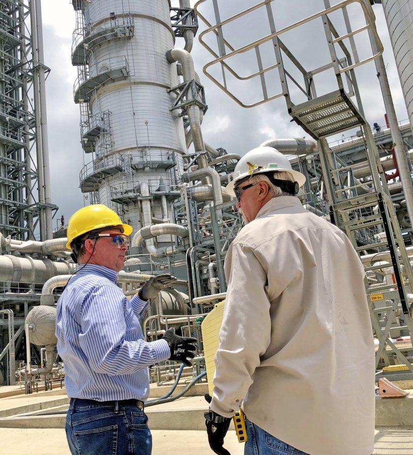 ASFE Steven Winberg tours the Petra Nova Power Plant.