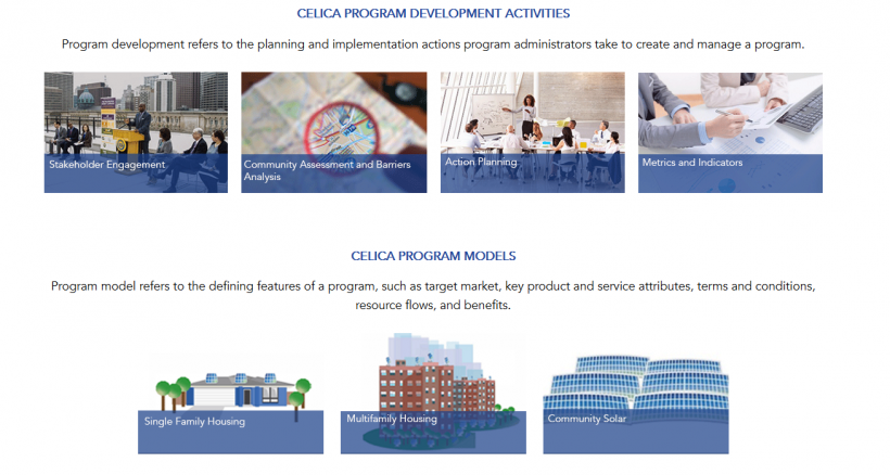 Website Homepage of the CELICA Toolkit