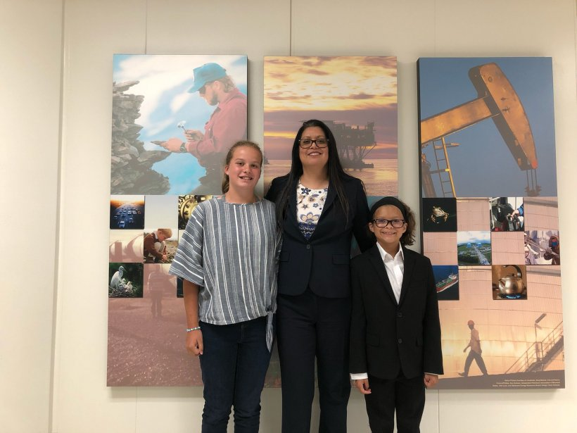 MLEF Graduate Gabby Intihar pictured with her two rising STEM daughters.