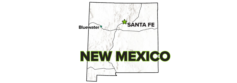 Bluewater, New Mexico, Disposal Site Map