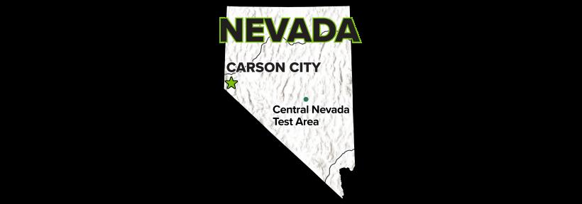 Central Nevada Test Area (CNTA), Nevada, Site Map