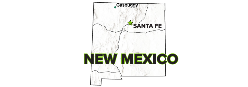 Gasbuggy, New Mexico, Site Map