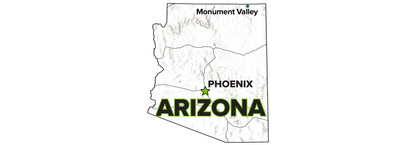 Monument Valley, Arizona, Processing Site Map