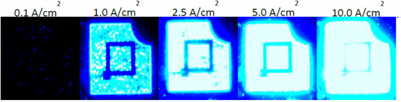 Photograph of a 2x multi-junction LED.
