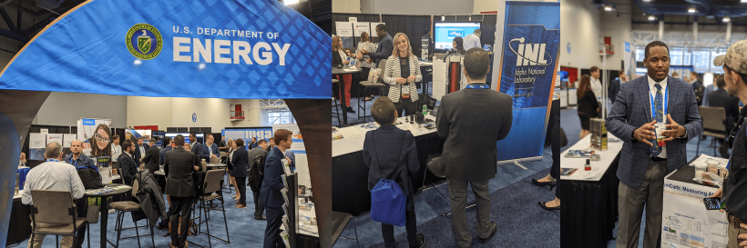 SpaceCom energy booth collage