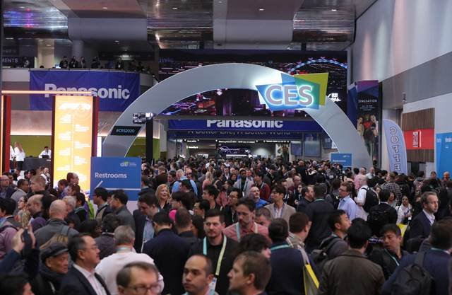 Image of CES entrance at the event