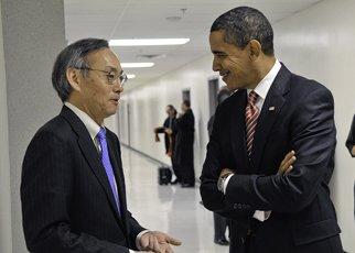 Obama meets Chu at DOE