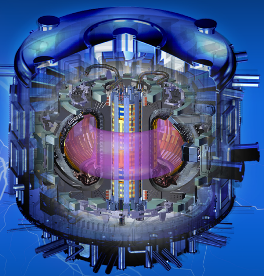 The Central Solenoid is a five-story, 1,000-ton magnet, in the center of the ITER. It consists of 22 miles of superconducting cables and will drive 15 million amperes of electrical current (millions of times more than in a house) in ITER's plasma.