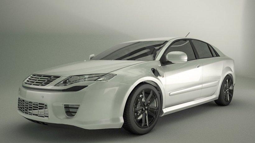 Model of a plug-in hybrid vehicle.