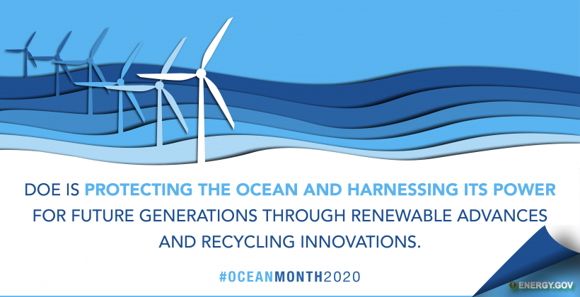 Department of Energy Ocean Month Banner