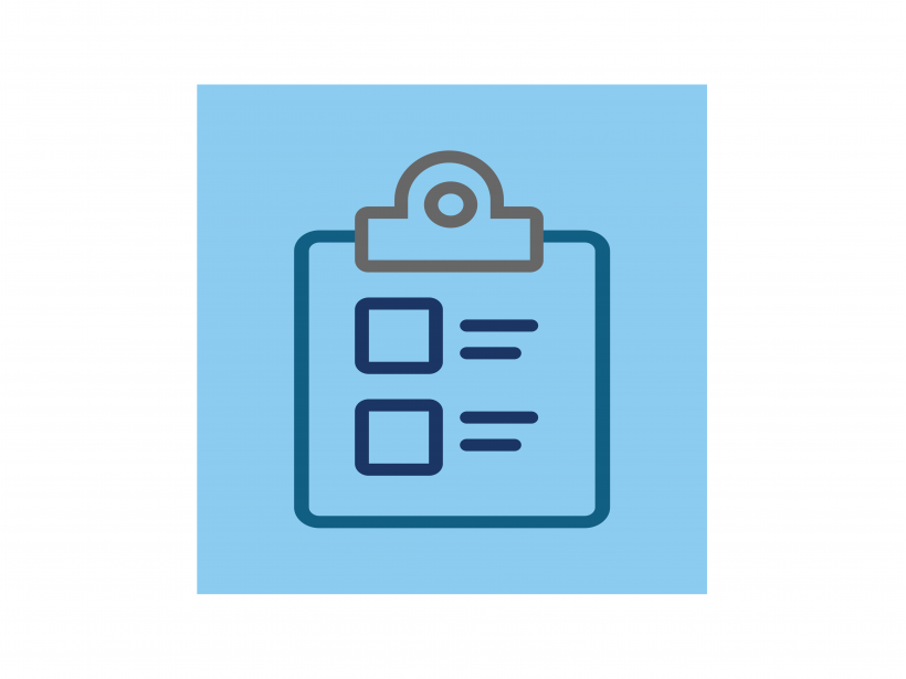 Icon of a clipboard.
