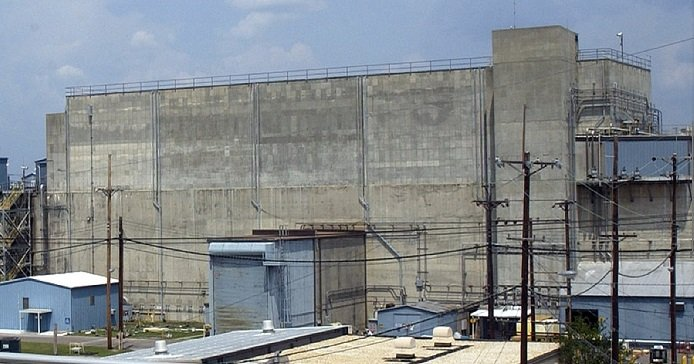 The HB Line facility at the Savannah River Site is located on top of the H Canyon chemical separations facility.