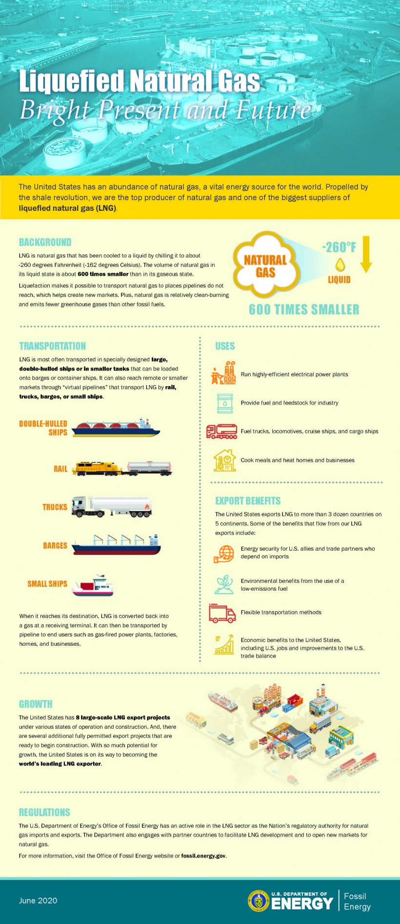 Liquefied Natural Gas Infographic