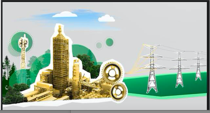 fossil energy plant depiction