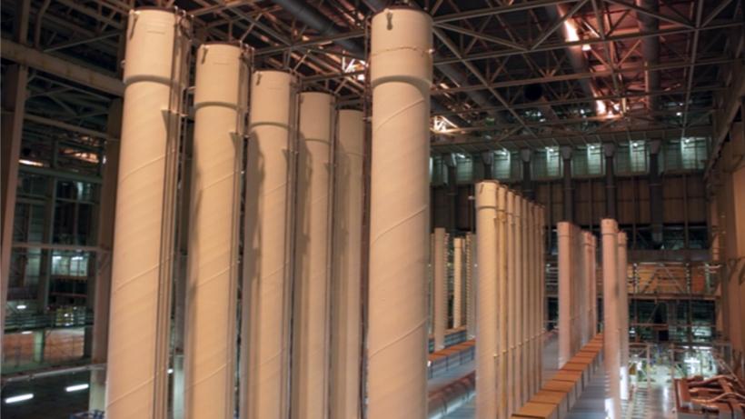 Cascade of centrifuges used for uranium enrichment.