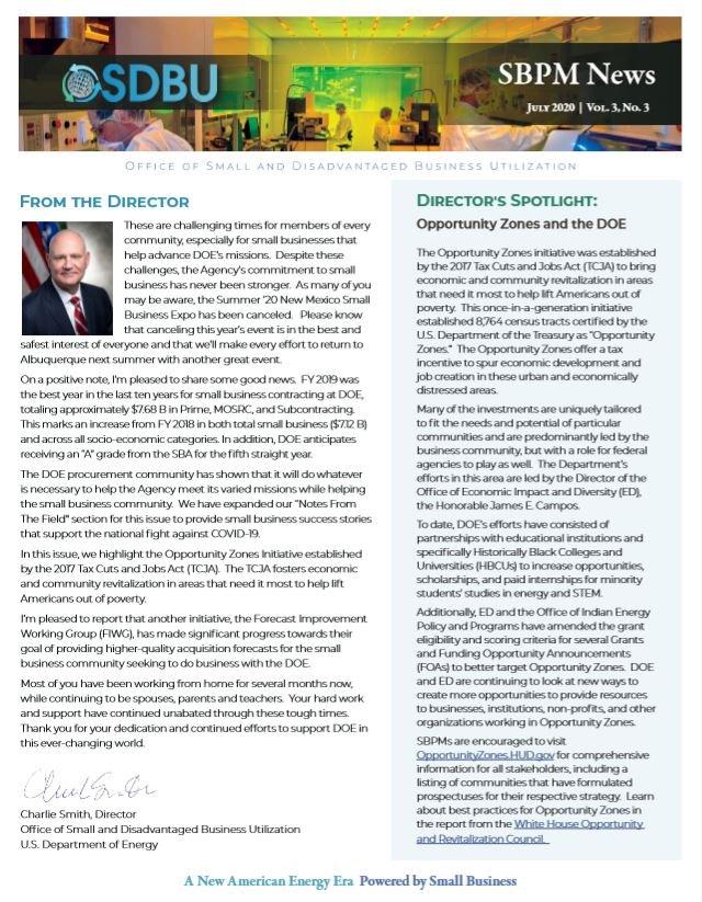 SBPM Newsletter July 1, 2020