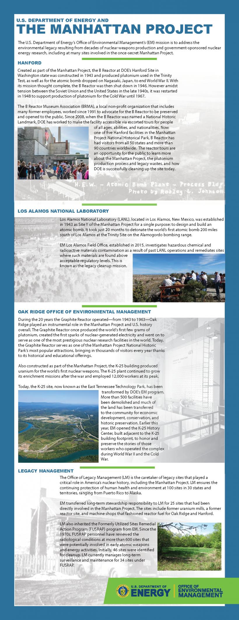 The Manhattan Project fact sheet