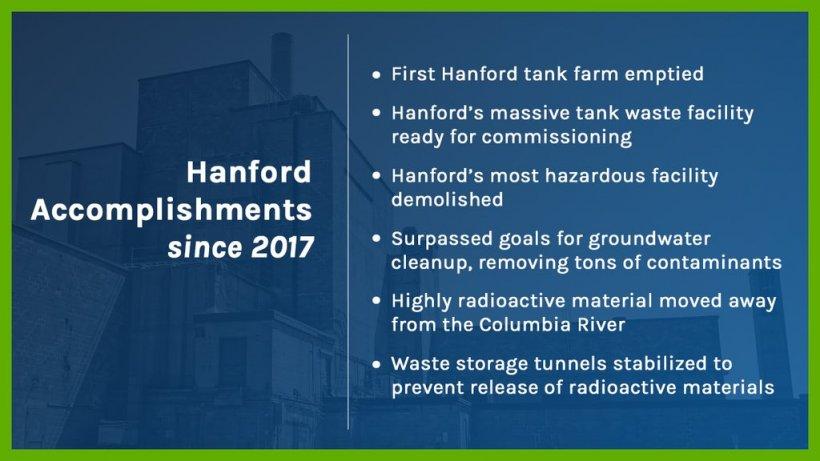 Hanford Successes Slide Image