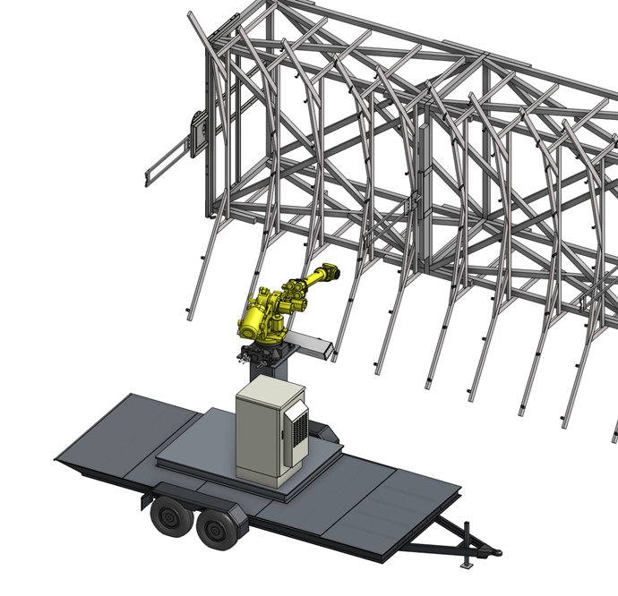 A robotic alignment system on a mobile platform.