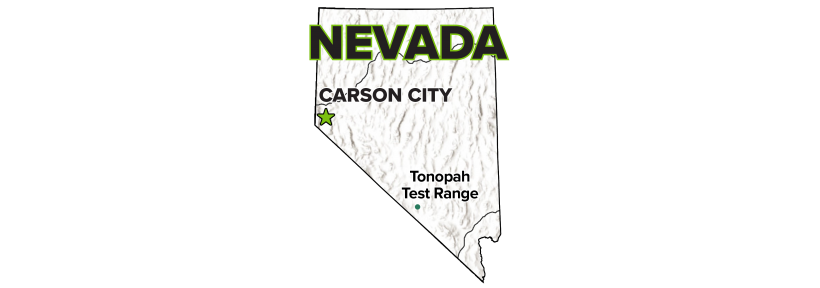Tonopah Test Range, NV, Site Map