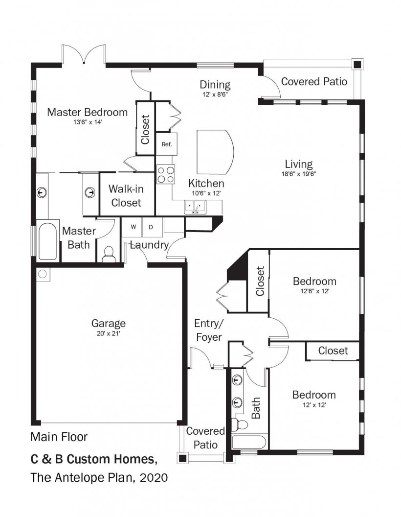 Floorplans for DOE Tour of Zero: The Antelope Plan by C & B Custom Homes.