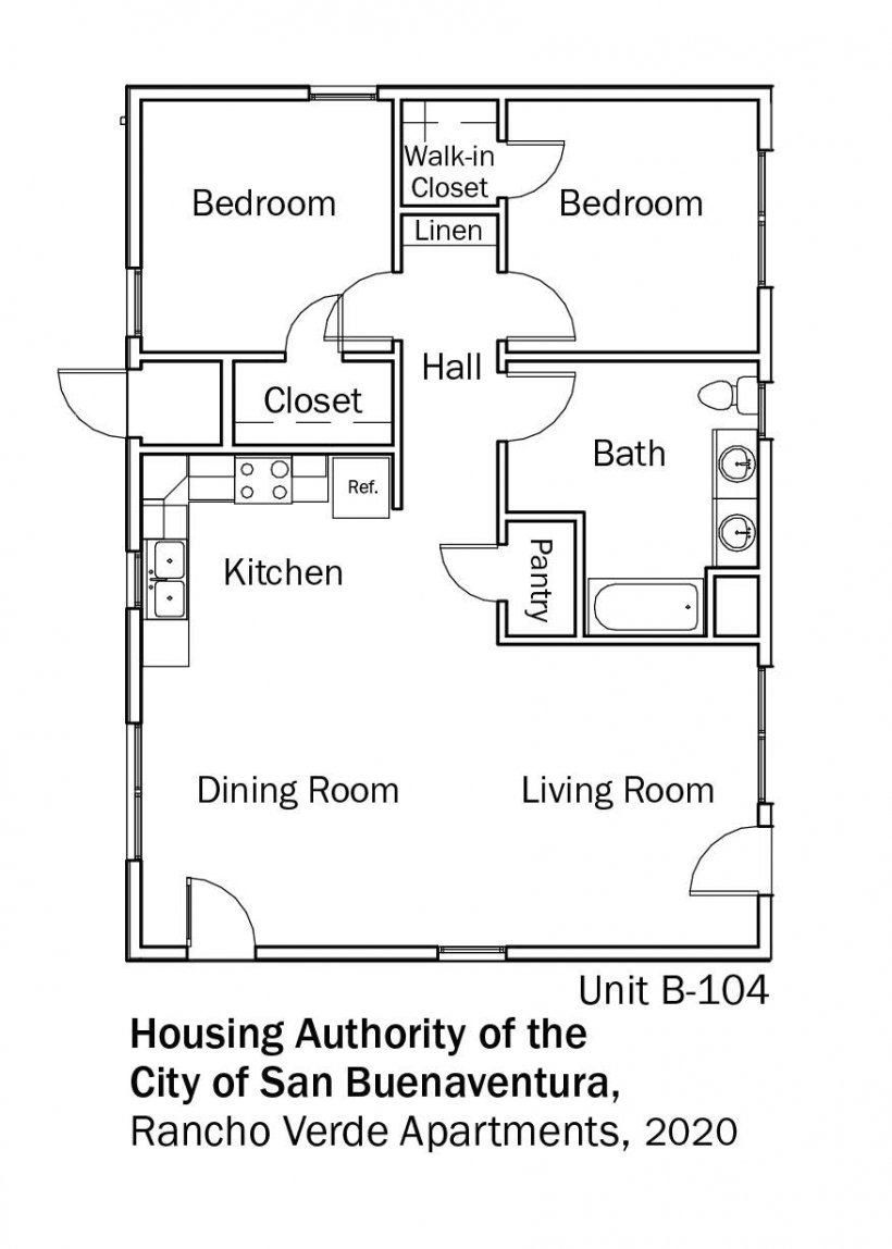 Floorplans for DOE Tour of Zero: Rancho Verde Apartments by the Housing Authority of the City of San Buenaventura.