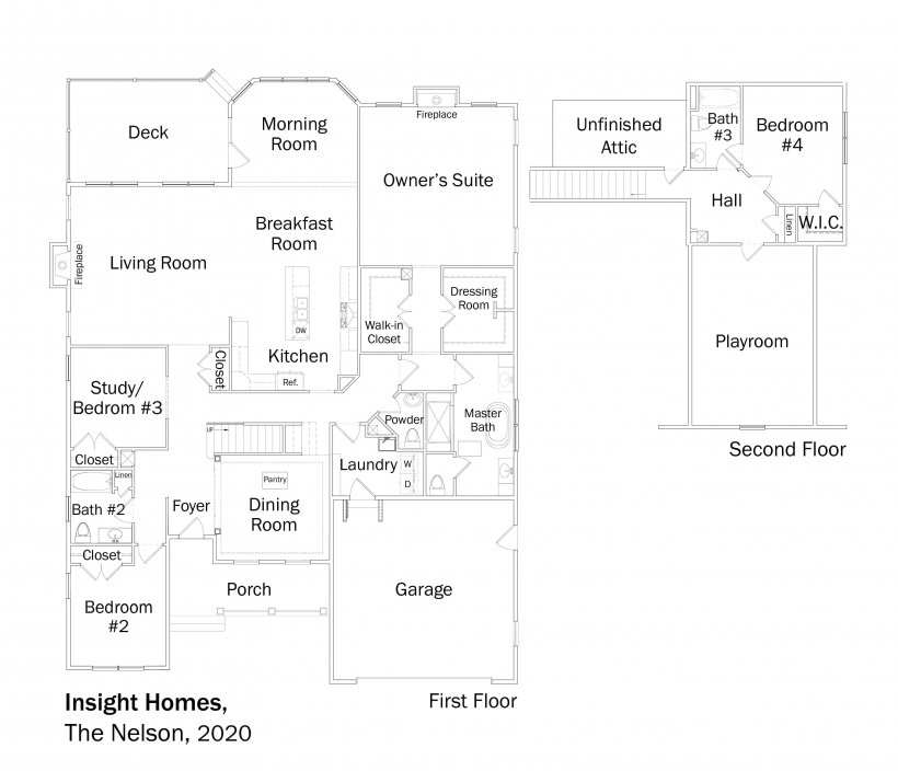 Floorplans for DOE Tour of Zero: The Nelson by Insight Homes.