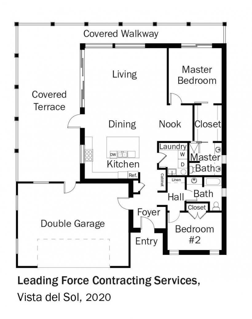 Floorplans for DOE Tour of Zero: Vista del Sol by Leading Force Contracting Services / Selah Vista Homes.