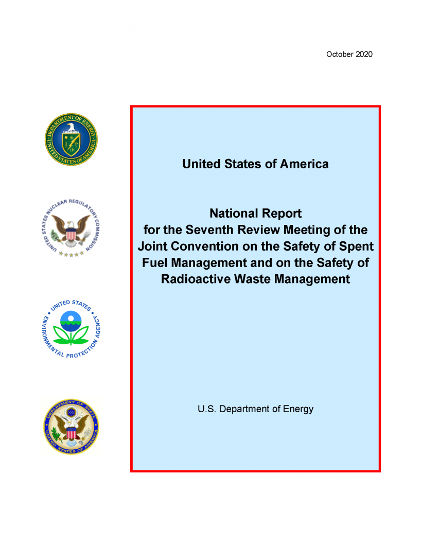 Report Cover for the Seventh Review Meeting of the Joint Convention on the Safety of Spent Fuel Management and the Safety of Radioactive Waste Management