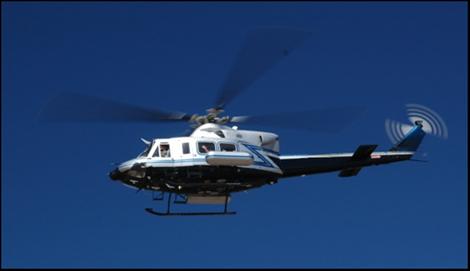 DOE/NNSA Bell 412 helicopter