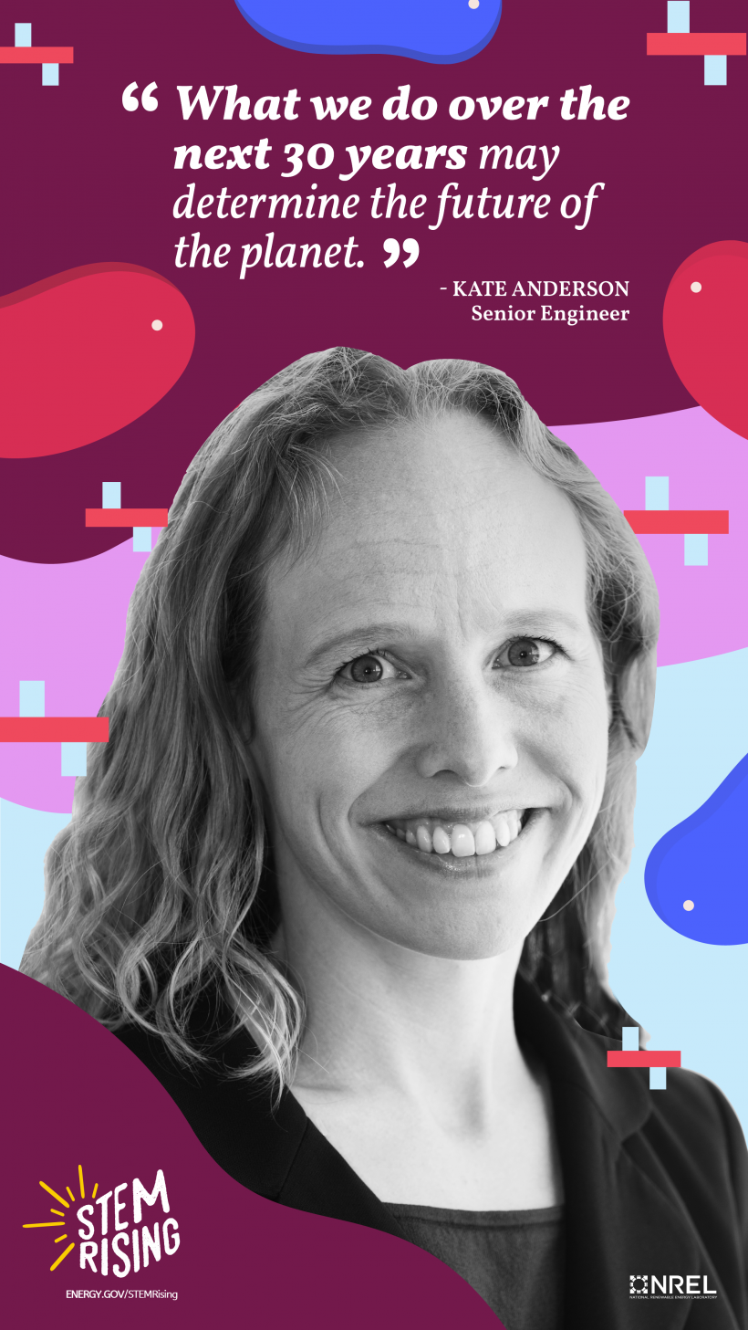 Kate Anderson is a Senior Engineer at the National Renewable Energy Laboratory.