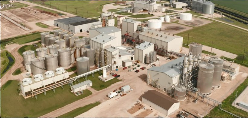 Aerial view of POET-DSM's Project LIBERTY biorefinery in Emmetsburg, Iowa.
